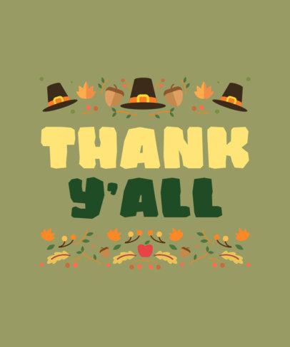 T-Shirt Design Creator for Thanksgiving Featuring Illustrated Pilgrim Hats 4124d