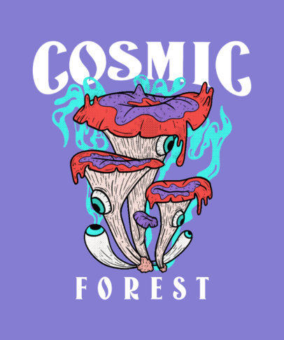 Illustrated T-Shirt Design Generator with a Psychedelic Mushroom 4121b