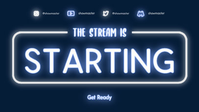 Starting Soon Screen Template for Music Streamers Featuring a Neon Theme 4465c-el1