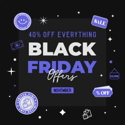 Sales-Themed Ad Banner Design Maker Featuring a Black Friday Offer 4132b