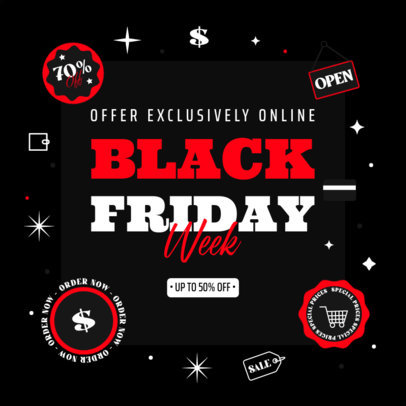 Black Friday-Themed Ad Banner Design Template Featuring Bold Text 4132d