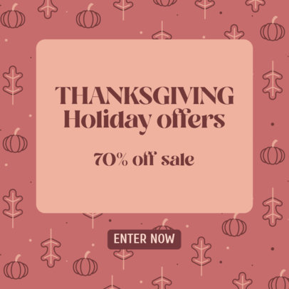 Ad Banner Design Creator With a Thanksgiving Day Theme and Special Offers 4128d