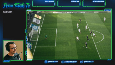 Soccer-Themed Twitch Overlay Maker for a Just Chatting Streamer 4456A-el1