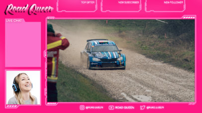 Girly Twitch Overlay Creator for a Racing Enthusiast Streamer 4456B-el1
