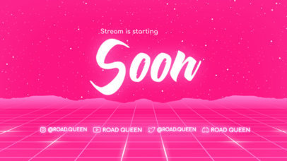 Girly Twitch Starting Soon Screen Creator for a Racing Enthusiast Streamer 4457b-el1
