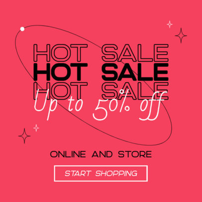 Ad Banner Template Announcing a Hot Sale During Black Friday 4131d