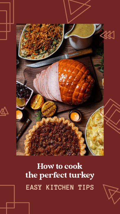 Instagram Story Maker Featuring a Thanksgiving Theme and Cooking Tips 4125f