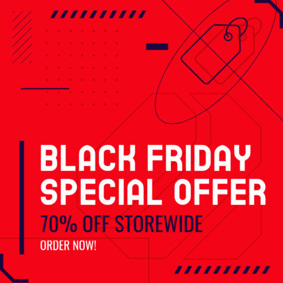 Cool Instagram Post Maker to Announce a Special Offer for Black Friday 4130a