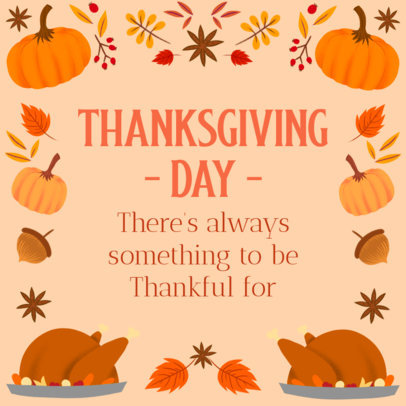 Instagram Post Design Maker With Thanksgiving Quotes 4127e