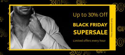 Facebook Cover Generator for a Black Friday Super Sale 4133e