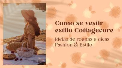 Girly YouTube Thumbnail Creator for Tips on Wearing Cottagecore Aesthetic Clothing 4098f