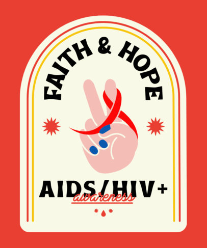 T-Shirt Design Maker for World AIDS Day Campaign with Illustrated Graphics 4151