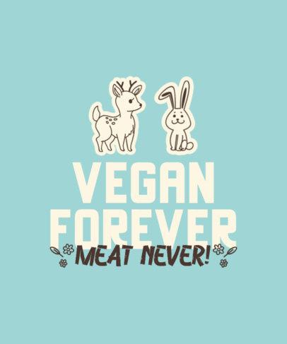 Vegan T-Shirt Design Template Featuring Animal Stickers 4479e-el1