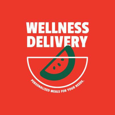 Food Delivery Service Logo Creator with a Watermelon Graphic 4489e-el1
