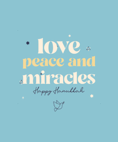 Quote T-Shirt Design Creator With a Happy Hanukkah Message 4140c