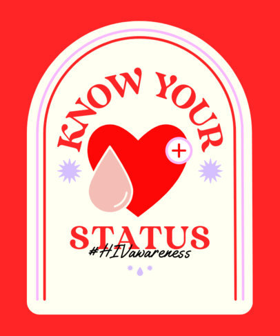 T-Shirt Design Generator for an HIV Testing Day Campaign 4151a