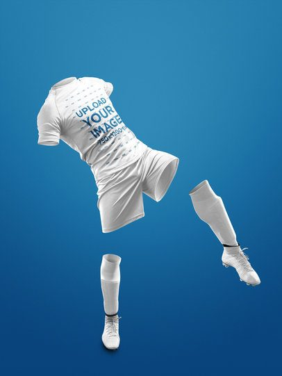 Custom Soccer Jerseys - Mockup of an Invisible Soccer Player a17268
