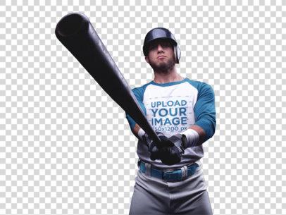 Transparent Baseball Uniform Designer - Player Showing the Bat a15993