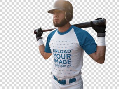 Transparent Baseball Uniform Designer - Batter in the Field a16340