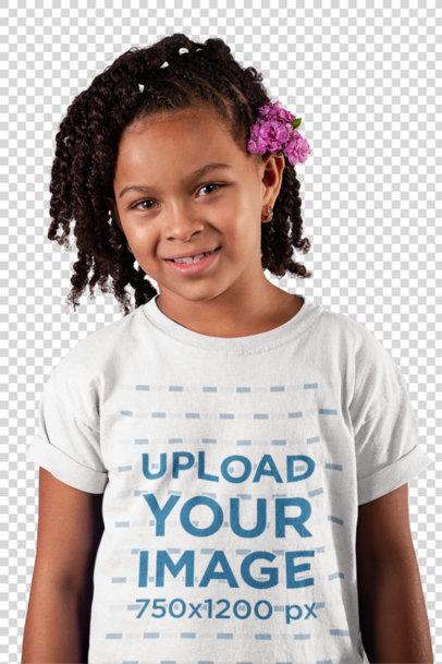 Transparent T-Shirt Mockup of a Smiling Child 22073