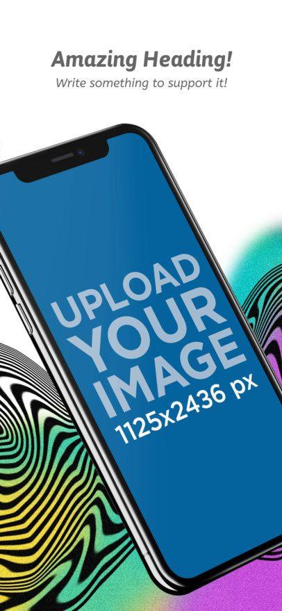 Angled iPhone X App Store Screenshot Maker a17413