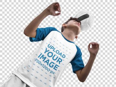 Transparent Custom Soccer Jerseys - Kid with Ball on Head a16601