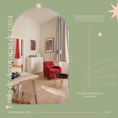 Home Decor-Themed Instagram Post Creator with a Classy Layout 4095b