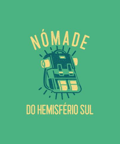 Quote T-Shirt Design Maker for Brazilian Travelers 3963i-4154