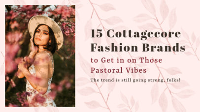 YouTube Thumbnail Generator with a Cottagecore Fashion Trend Theme 4098c