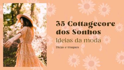YouTube Thumbnail Maker with a Cottagecore Fashion Theme for a Brazilian Vlogger 4098e