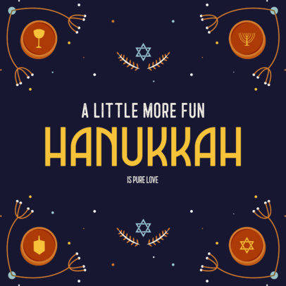Instagram Post Maker Featuring a Hanukkah Theme and Quotes 4032f