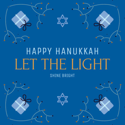Illustrated Instagram Post Creator With a Happy Hanukkah Message 4032g