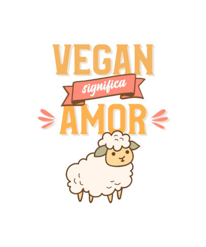 Vegan T-Shirt Design Maker with a Quote About Love 4481f-el1