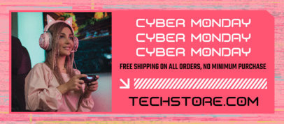 Cyber Monday-Themed Facebook Cover Creator for Tech and Electronic Deals 4149c