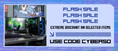 Cyber Monday-Themed Facebook Cover Design Generator for a Flash Sale 4149f