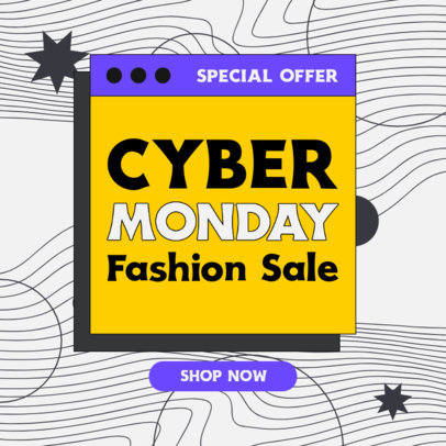 Instagram Post Generator for a Cyber Monday Fashion Sale 4147b