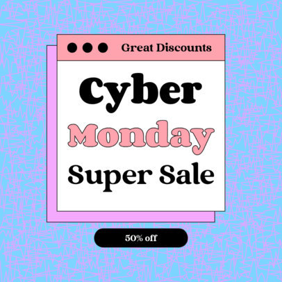 Instagram Post Creator for a Cyber Monday Super Sale 4147c