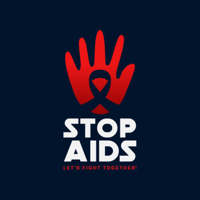 AIDS Awareness Foundation Logo Maker 4717b