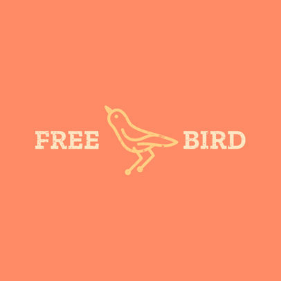 Logo Maker for a Vegan Products Brand With a Bird Icon 4715a