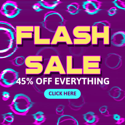 Ad Banner Design Template for a Cyber Monday Flash Sale 4143c