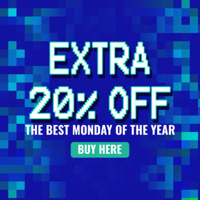 Pixel Art-Inspired Ad Banner Design Maker Featuring Cyber Monday Discounts 4143d