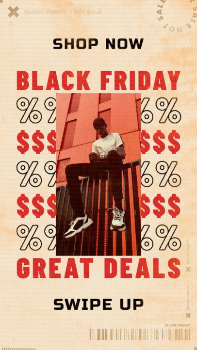 Instagram Story Design Maker for an Online Store's Black Friday Discount 4137e