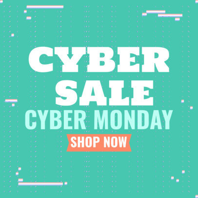 Ad Banner Maker for a Cyber Monday Online Sale 4144d