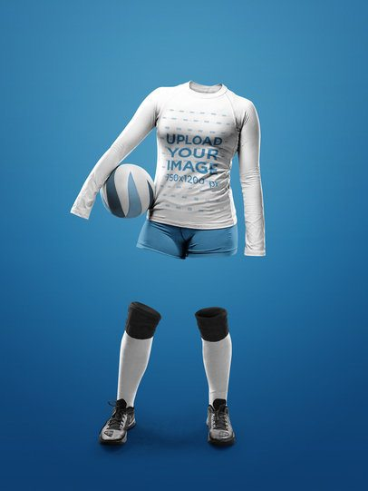 Custom Volleyball Jerseys - Invisible Woman Standing with Ball a17510