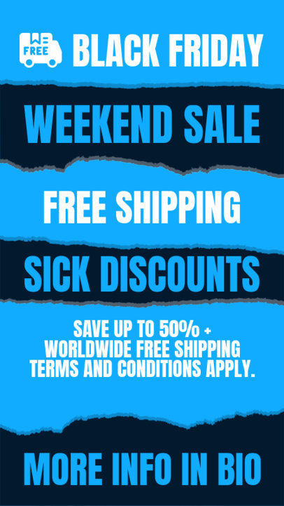 Black Friday-Themed Instagram Story Creator for a Weekend Sale 4540b-el1