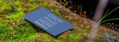 Business Card In The Nature Wide 6755