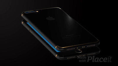Black iPhone 7 Plus Video Floating Over Another iPhone in a Black Room a15442