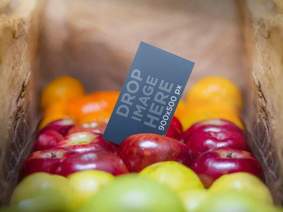 Business Card On Fruits 2234