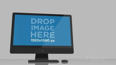 Video Mockup of an iMac Inside a White Room a16235b