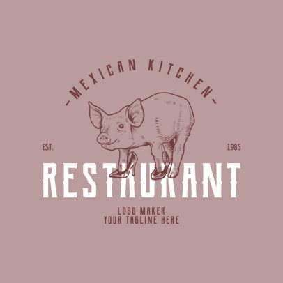Restaurant Logo Maker with Engraving Style Logo a1020
